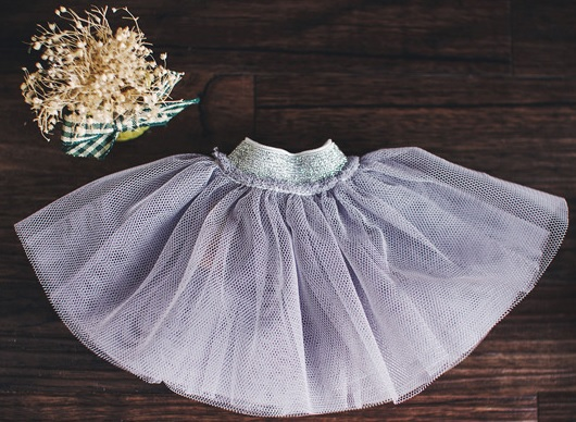 Bunny Tutu Skirt - Gray